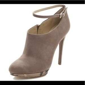 B Brian Atwood Tan Suede Fruitera Bootie 10M